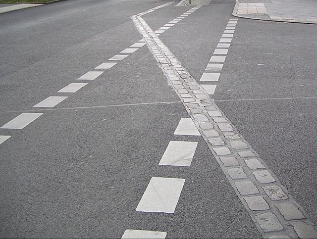 Road markings of the Berlin Wall